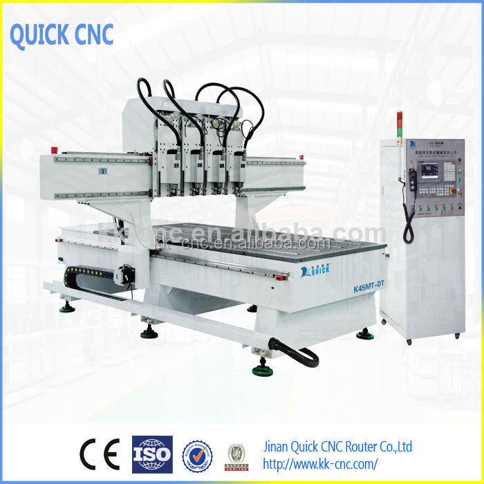 sculpture wood carving cnc router machine with 2 head ,K45MT-DT Synchronous Type