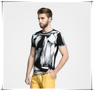 Simple Fashion Color men T-Shirt with full printing