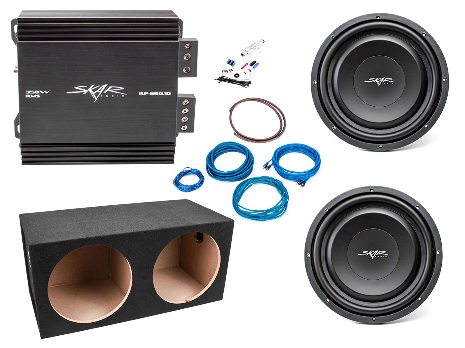 Buy Skar Audio Dual 12 Ev S2 1000 Watt Bass Package Includes Home Subwoofer Wiring Subwoofers