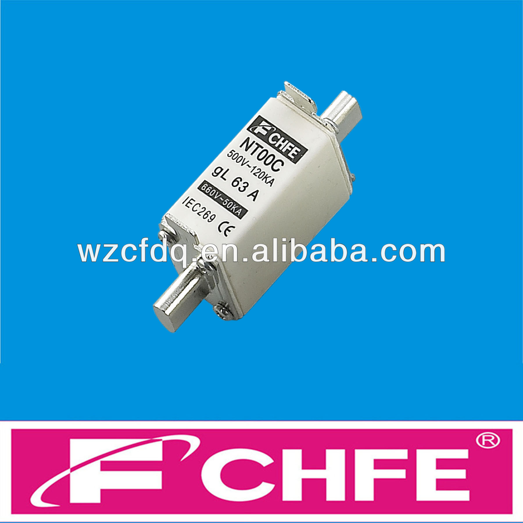 Bussmann fuse NH000 NH00 NH0 NH1 NH2 NH3 NH4 NH type hrc fuse link CHFE Brand