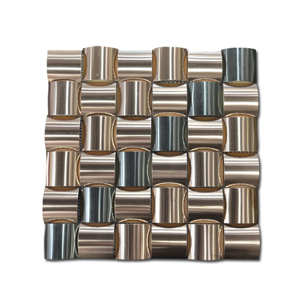 - Wall Decorative Stainless Steel Backsplash Mosaic Cube 3d Mosaic