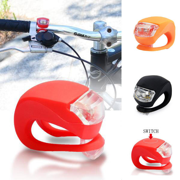 Silicone Led Bike Light/strap On Bike Light For Handle Bar