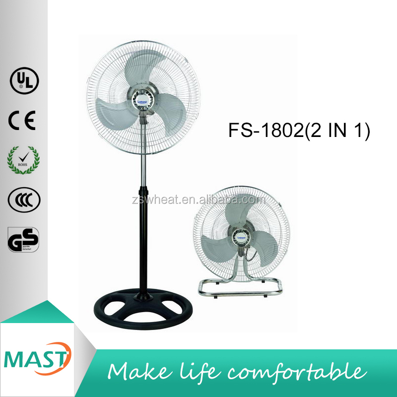 new design 18 inch industrial fan taiwan motor and taiwan quality 2 in 1 industrial floor fan