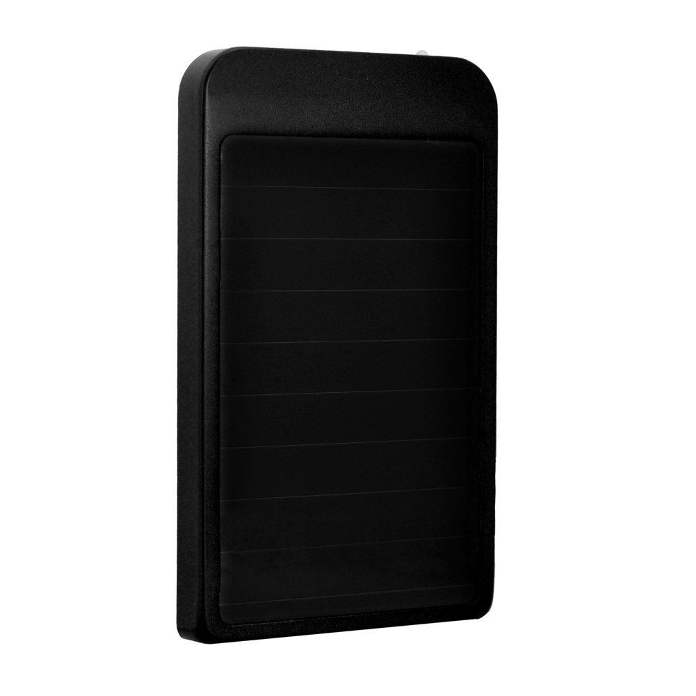 FAVOLCANO® 2600mAh Solar Battery Panel Power Bank Compact USB Port Protable Charger External Battery for Galaxy S6 and S6 Edge, iPhone 6, iPhone 6 Plus, iPhone 5S 5C 5, Galaxy S5 S4, LG G3, Nexus, HTC One M8 and M9, MOTO X (Black)