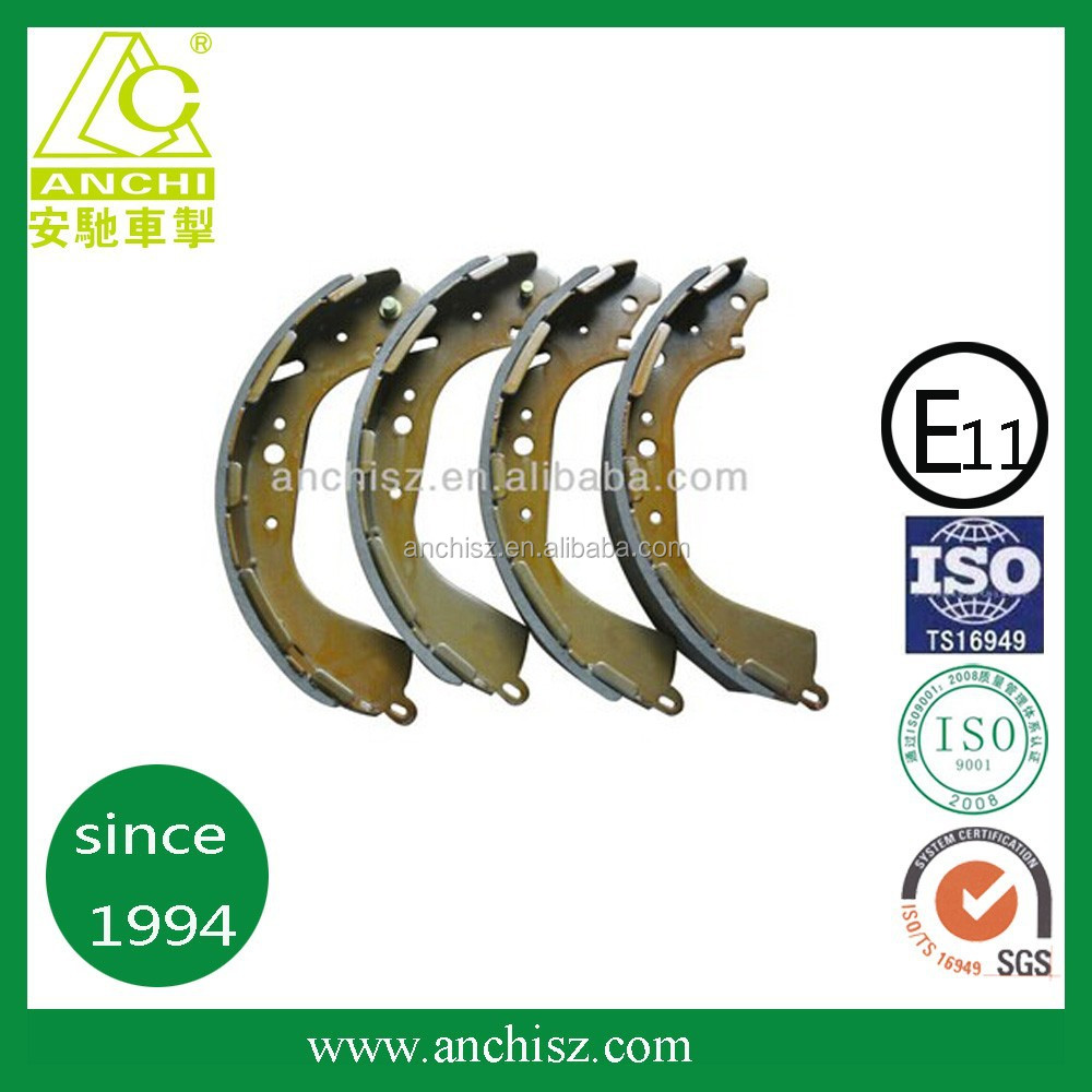 auto brake 4707 toyota semi-metal brake shoe made in china