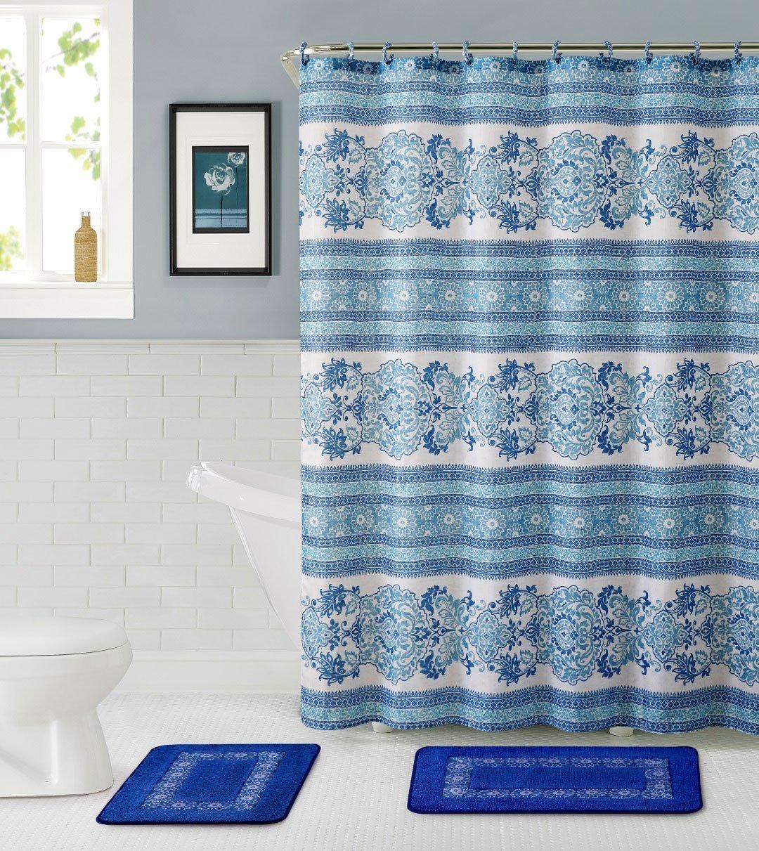 Cheap Blue Damask Shower Curtain, find Blue Damask Shower Curtain ...