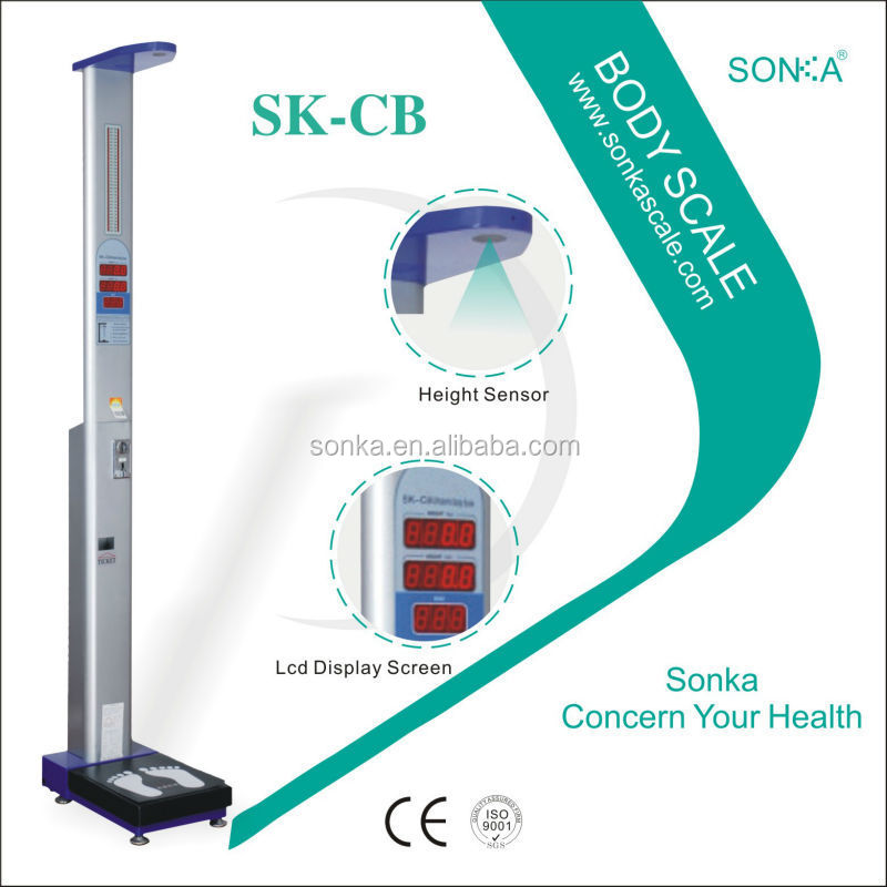 Body Shaker Vibration Machine/Coins Coins Coins SK-CB With Vending Height And Weight Analyzer