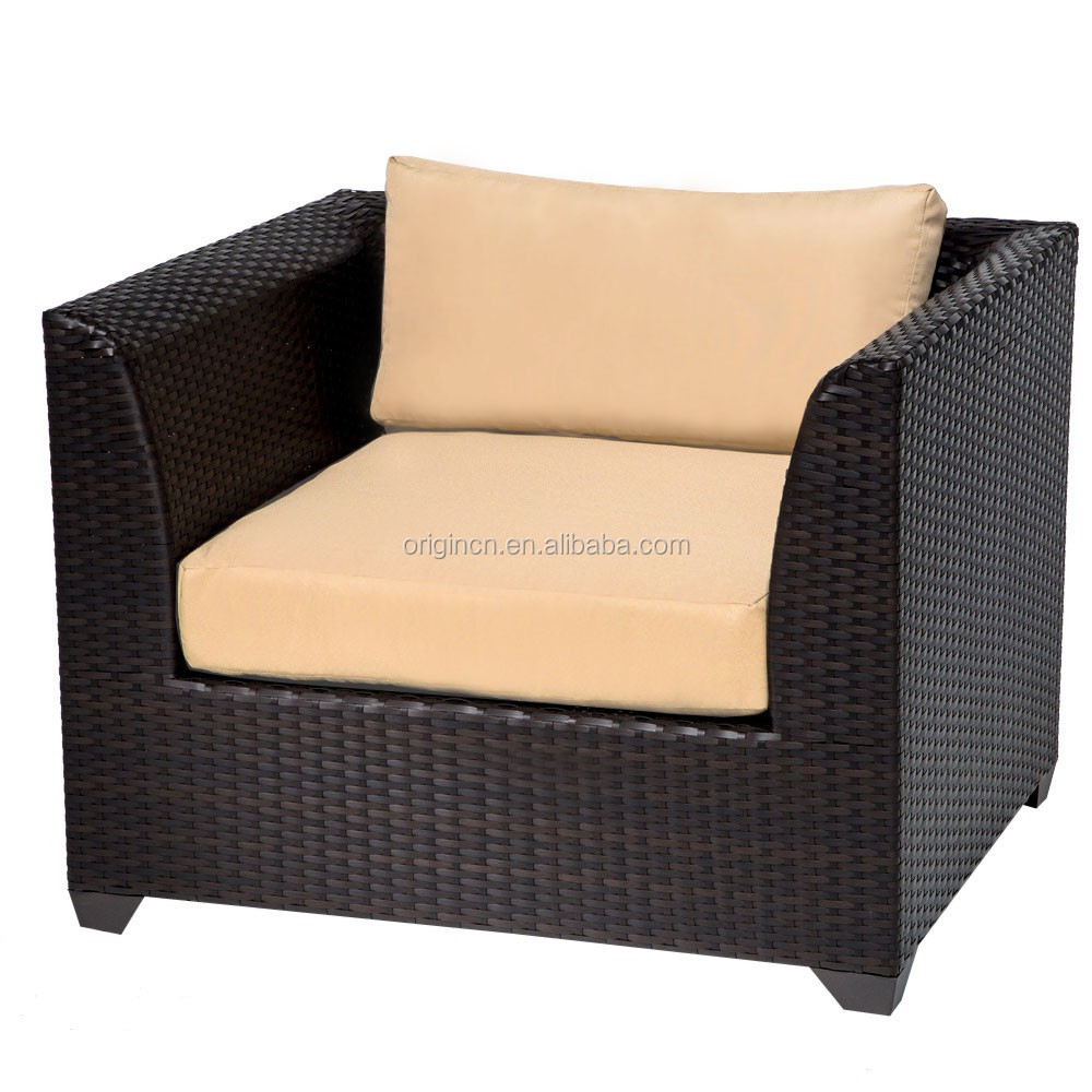 Metal outdoor club chairs - Villa Hotel Outdoor Friends Gathering Sofa With Ottoman Footrest And Metal Top Table Well Used Patio