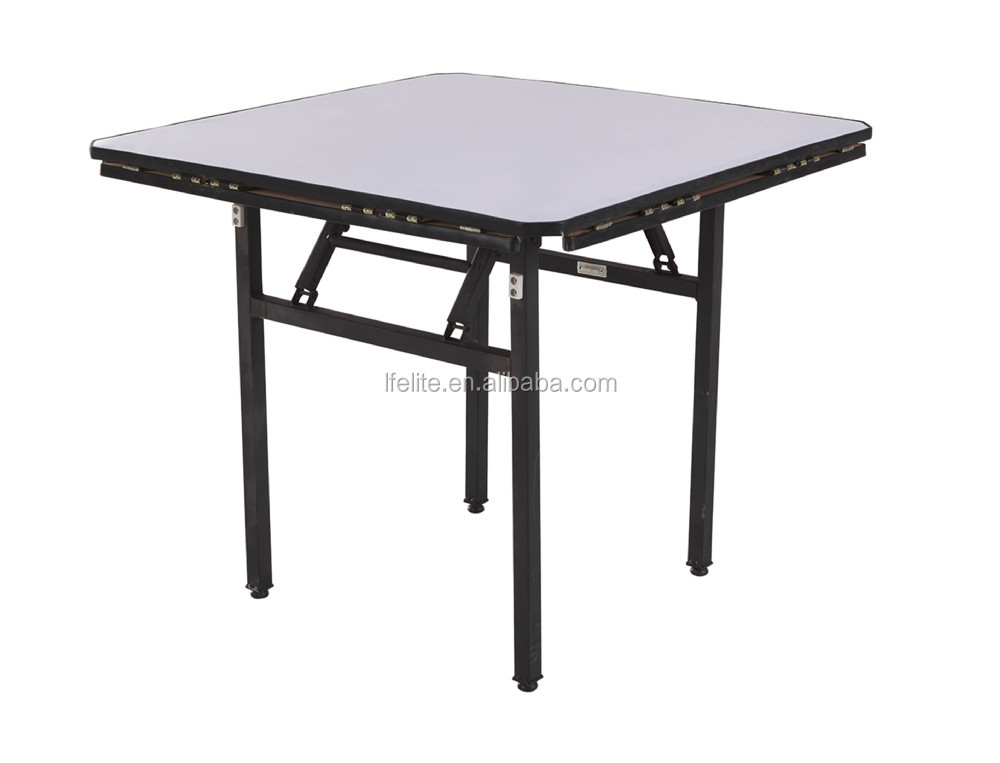 Round plywood pvc coated hotel dining foldable table buy foldable table dining foldable table - Hotel dining tables ...