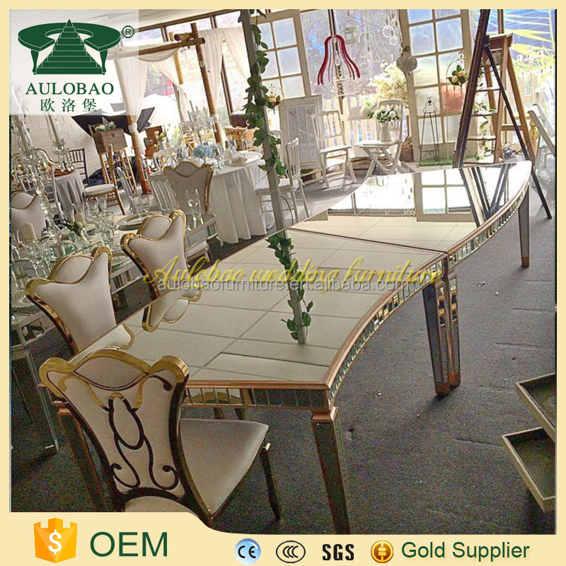 King furniture design golden frame stainless steel dining table