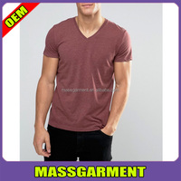 MS-1606 Whosale Cheap V Neck T Shirt Men Blank Cotton T Shirt Made In China