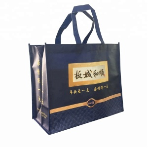 Custom New Shopping Non Woven Bag Eco Bag/Gold laminated pu logo pasted metallic non woven bag
