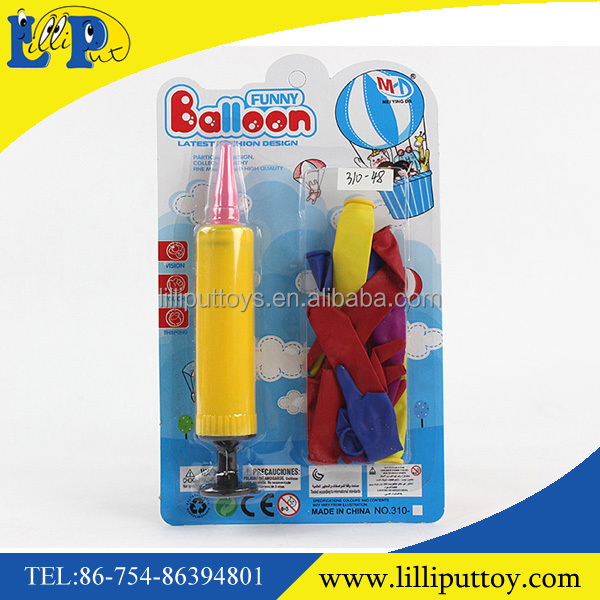 New inflatable balloon toys with inflator pump