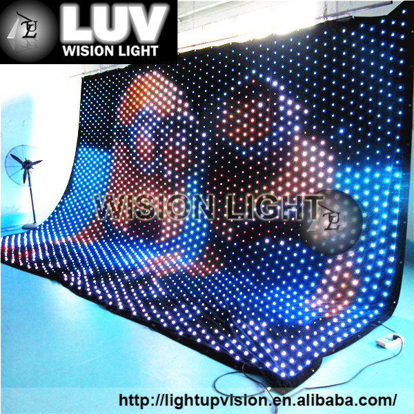 Hot Selling Soft Led Curtain/flexible Led Curtain Price