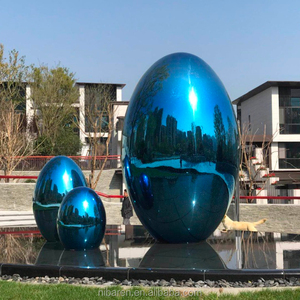 High Polished Surface Stainless Steel Ball Garden Decoration Sculpture