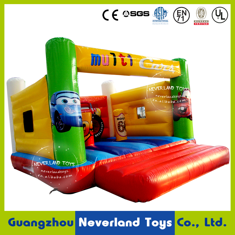 NEVERLAND TOYS Best Quality Hot Selling Cheap Inflatable Car Cartoon Bouncer Combo Funny Trampoline For Sale