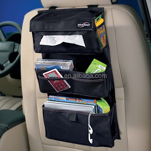 leather car back seat organizer storage box