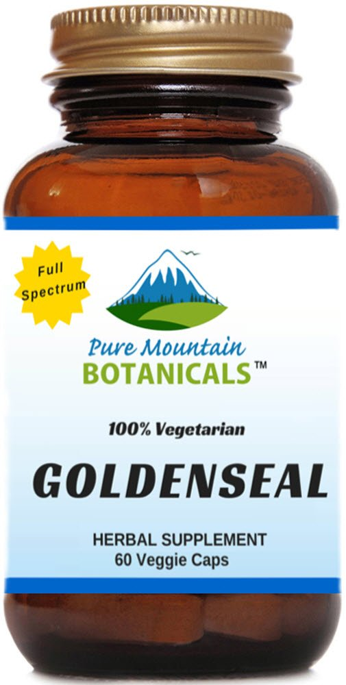 Organic Goldenseal Root Capsules. 60 Kosher Veggie Capsules With 250mg Organic Goldenseal Herb Powder