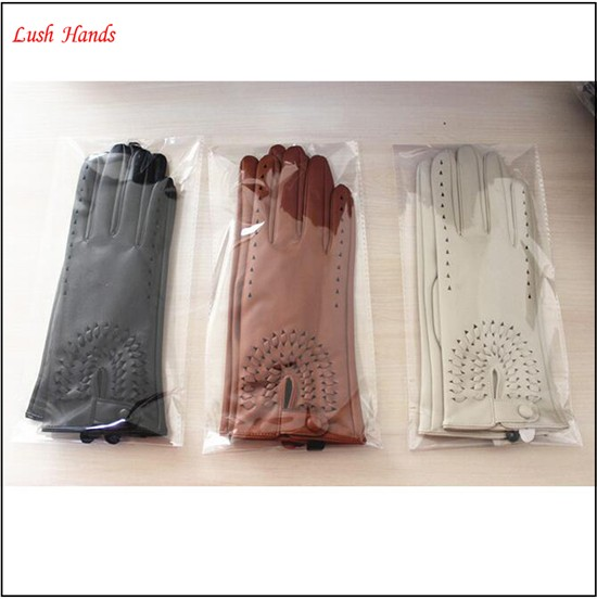 fashion style cheap price women wearing PU gloves