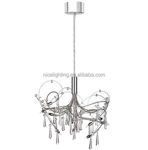 Low Voltage 10 G4 Lights Crystal Chandelier, Polished And Satin Chrome Finish
