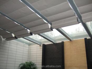Sun Shade Roof Awning Glass Skylight Folding Motorized