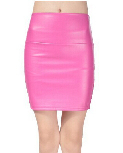 6fc41a4c5e Get Quotations · 2015 Woman Fashion PU Leather Sexy Package Hip Skirt Plus  Velvet Was Thin High Waist Step