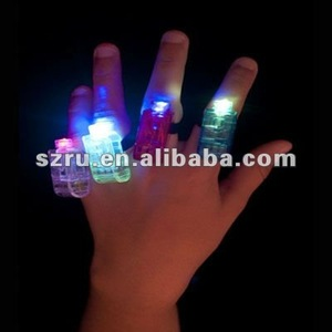 New arrival Christmas and Halloween led finger light toy for business promotion