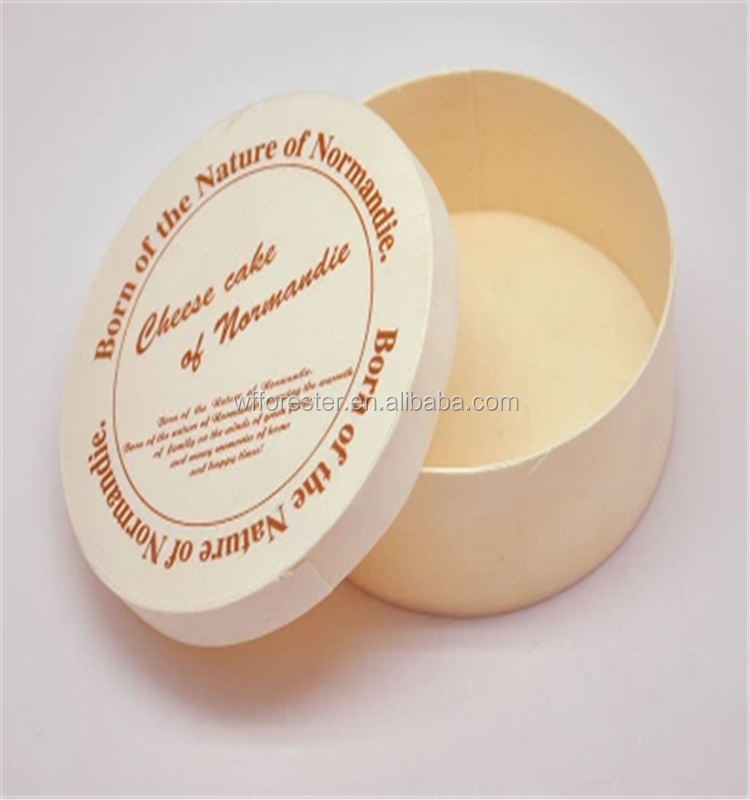 Handmade high quality cheap round wooden bark cheese box with lid