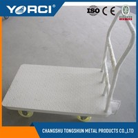500kg heavy duty industrial warehouse logistics picking hand push cart steel platform trolley