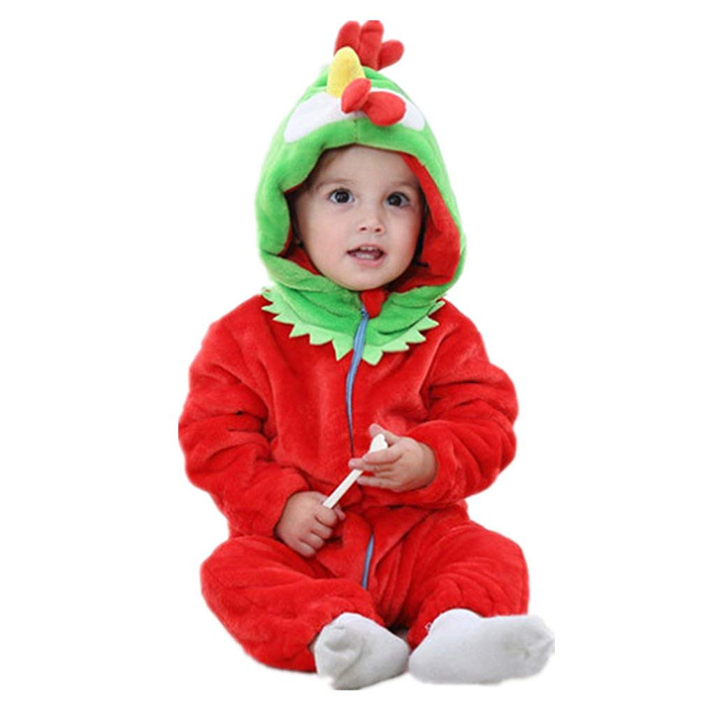 92b52932d6 Get Quotations · Nine Minow Baby Winter Romper Panda Flannel Pajamas  Jumpsuit Outfits for Kids