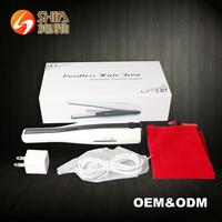 Battery Operate Ceramic Coating Travel Mini Heater USB Rechargeable Power Cordless Hair Salon Flat Iron Straightener Wireless