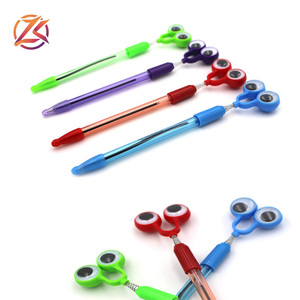 novelty new design funny fancy kids toy customized logo ballpoint pen with googly big eyes