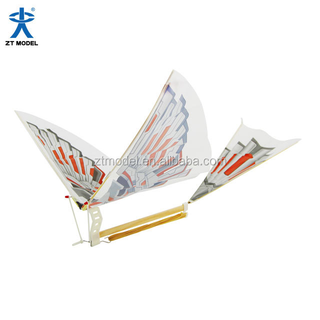 Iron Bird Rubber Powered Ornithopter Children Park Toys