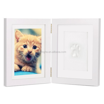 Quality Wood Photo Frames Safe Clay Babyprint Casting Kit Newborn ...