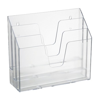 Wall Mount Clear Acrylic Document Magazine HolderLucite Desktop Delectable Lucite Magazine Holder