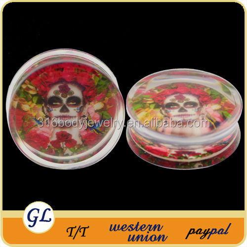 TP02931 acrylic ear plug upper ear piercing jewelry