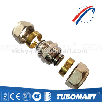Wholesale CW617n Brass Compression Straight Union Pex Fittings For Pex Plumbing And Heating Pipe