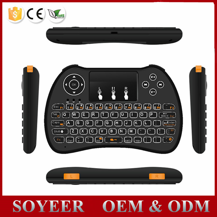 Soyeer Android tv box using 2.4G Wireless mini keyboard H9 Fly Air Mouse Keyboard Mouse for fire tv stick