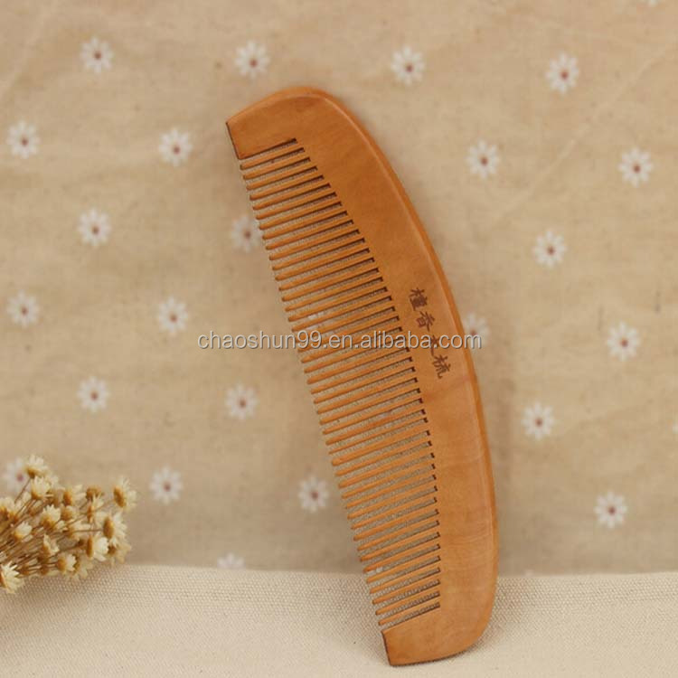 Hand carved wooden comb baby girly hair brush