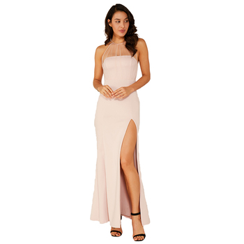 Sexy Vintage Bodycon Maxi Elegant White Lace Dress Woman
