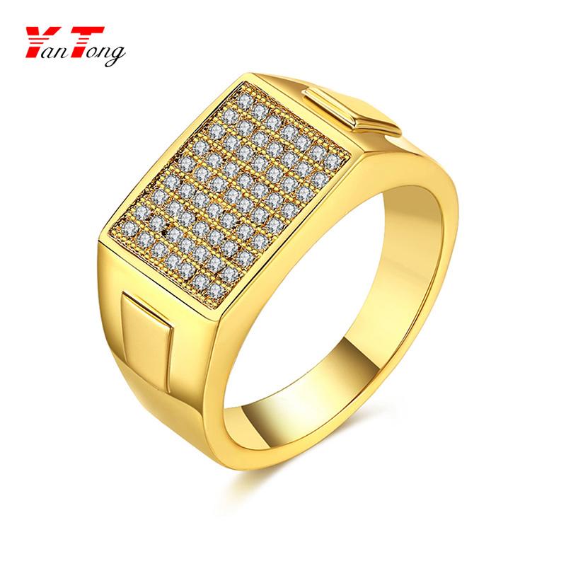 Trendy Simple Gold Rings Designs For Ladies 4 Zircon Stone Rose ...
