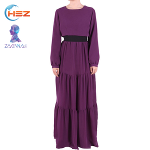 Zakiyyah 10024 Bright islamic dress women beautiful silk route abaya popular muslim clothing