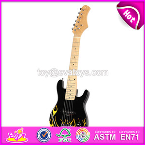 Best sale kids musical wooden toy guitar for 3 year old W07H014-S