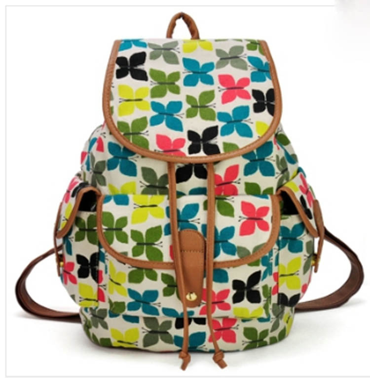 fdf4ee240 Hot sale Printed College New Fashion Girls' School Bag Canvas Backpack
