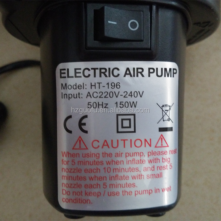 Fast Electronic Air Pump for Inflate or Bleed