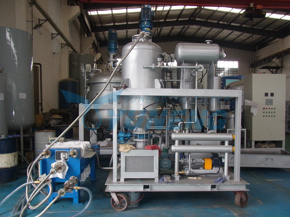 Used black engine oil recycling and regeneration machine / oil purifying machine