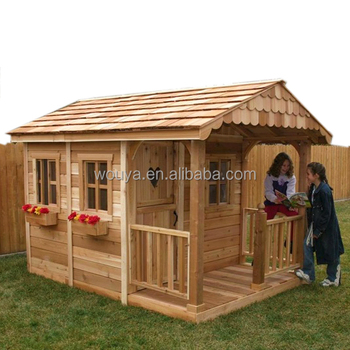 Children Portable Wooden Playhouse Kids Playhouse Outdoor