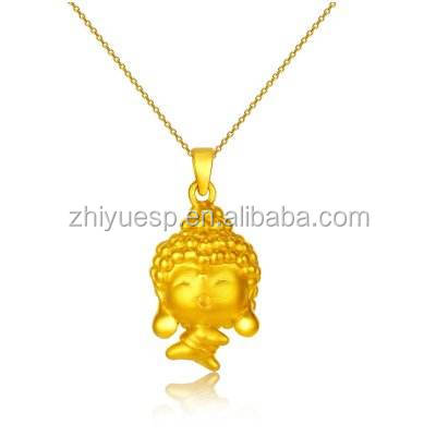 3d solid gold carton pendant necklace