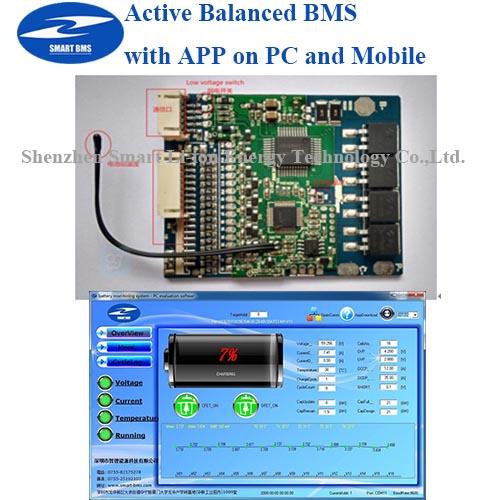 Active Bms 16s Lifepo4 Bms 24v 100a For Li Ion Lifepo4 Battery ...