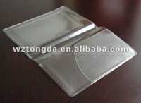 transparent adhesive book cover with pocket